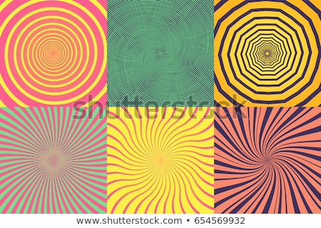 Psychedelic Circle Elements set stock photo © 13UG13th