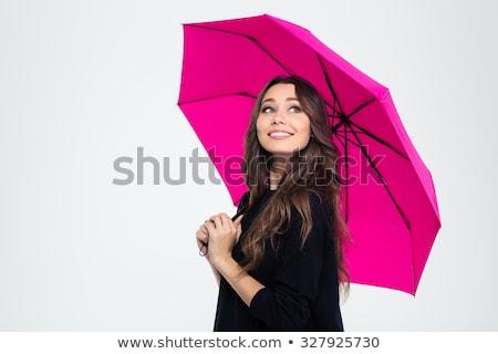 женщину · красочный · зонтик · белый · воды · солнце - Сток-фото © elnur