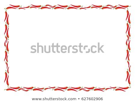 Frame of Chili Peppers Stock photo © zhekos