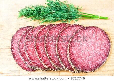 サラミ 木製 色 サンドイッチ 唐辛子 ストックフォト © raphotos