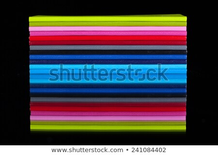 Doze diferente cores vidro secretária papel Foto stock © CaptureLight