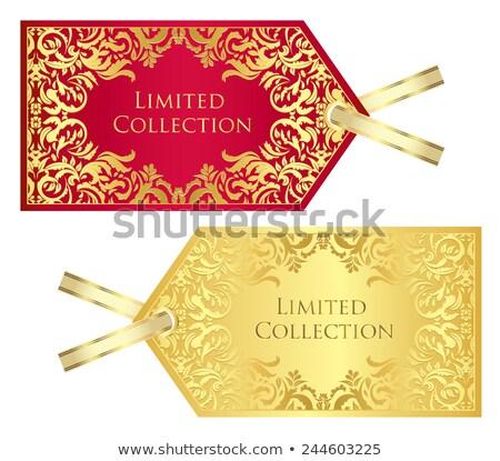 эксклюзивный · красный · карт · Vintage · цветочный · шаблон - Сток-фото © liliwhite