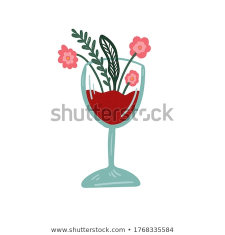 nordic girl drinking a glass of white wine Stock photo © Dave_pot