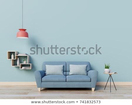 abstract · afbeelding · Blauw · kamer · gebouw · achtergrond - stockfoto © magann