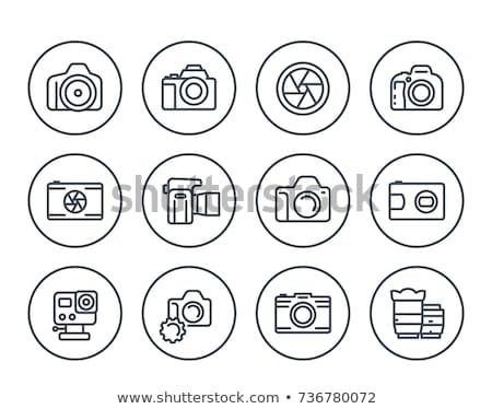 digitális · fotó · kameralencse · közelkép · izolált · fehér - stock fotó © aza