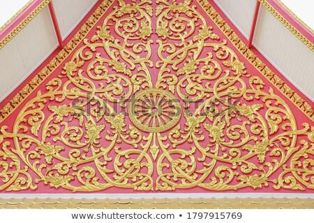 tető · buddhista · templom · kínai · textúra · absztrakt - stock fotó © ssuaphoto