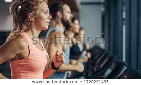 Fitness formation jeunes instructeur stagiaire couple Photo stock © eleaner