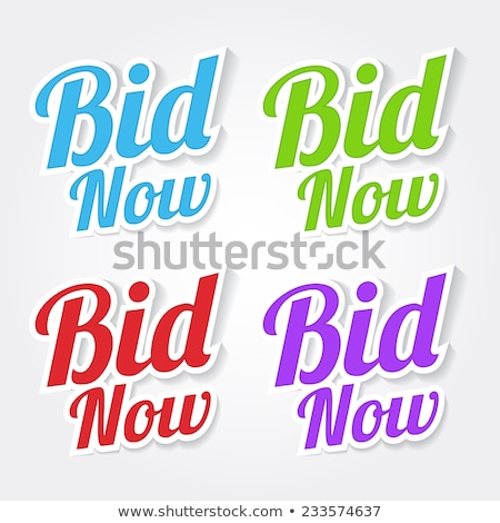 Bid Now Purple Vector Icon Design Stock photo © rizwanali3d