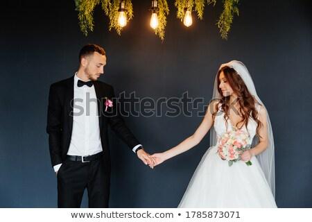Gelin iç güzel beyaz elbise kadın Stok fotoğraf © fotorobs
