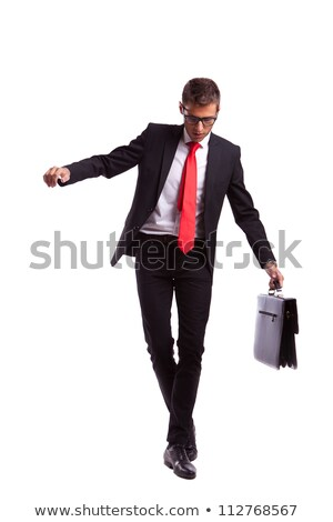 Business man walking on imaginary rope Stock photo © fuzzbones0