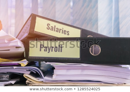 salaries concept with word on folder stock photo © tashatuvango