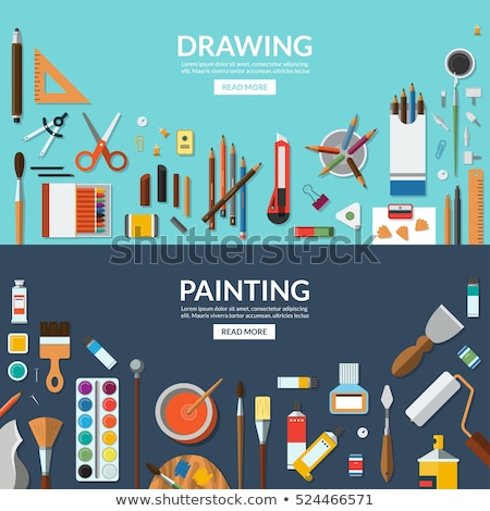 art · palette · instrument · dessin · bois · design - photo stock © anna_leni