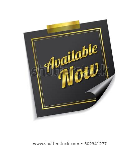Available Golden Sticky Notes Vector Icon Design Stock photo © rizwanali3d