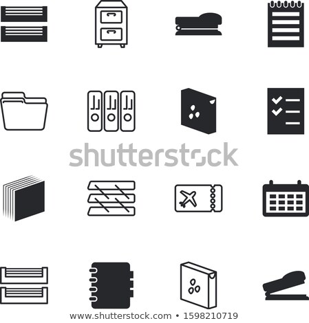 a drawer cabinet with the label applications stock photo © zerbor