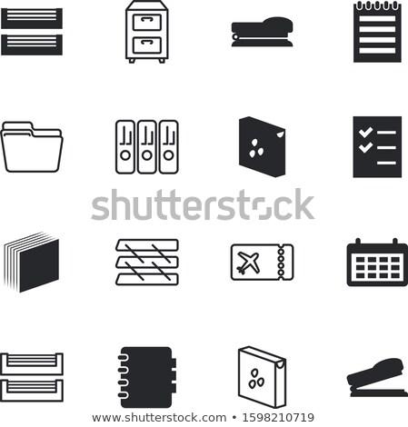 pomoc · pliku · szuflada · etykiety · odizolowany · biały - zdjęcia stock © zerbor