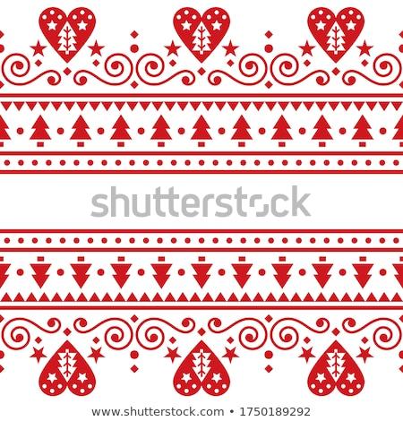 Christmas norwegian pattern Stock photo © ElaK