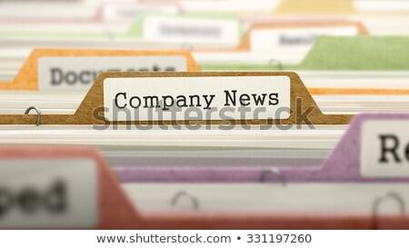 Mappa katalógus cég hírek színes közelkép Stock fotó © tashatuvango