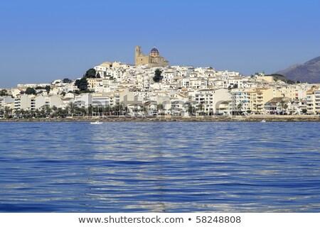 Espanha · mar · barco · mediterrânico · janela · reflexão - foto stock © lunamarina