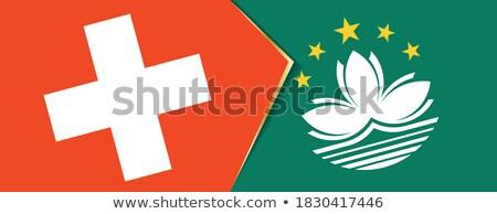 Switzerland and Macau Flags Stock photo © Istanbul2009