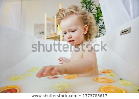 少女 花 クローズアップ 肖像 美しい 若い女性 ストックフォト © svetography