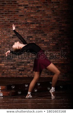 tam · uzunlukta · portre · kadın · poz · heyecanla · güzel - stok fotoğraf © deandrobot