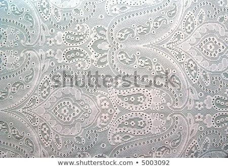 white woven lace patterned tablecloth Stock photo © vlaru