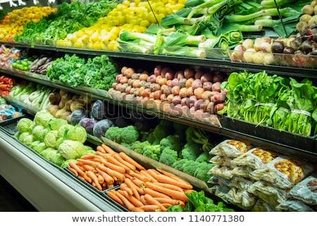 Sárgarépa zöldség áruház étel egészség háttér Stock fotó © art9858