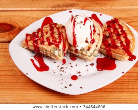 Torták fagylalt étel konyha vacsora tányér Stock fotó © shutswis