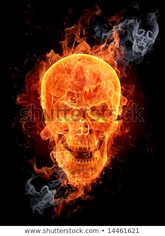 skull burning in flames stock photo © kirill_m