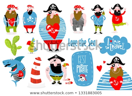 ビッグ 海賊 セット 腕 シンボル ストックフォト © sharpner