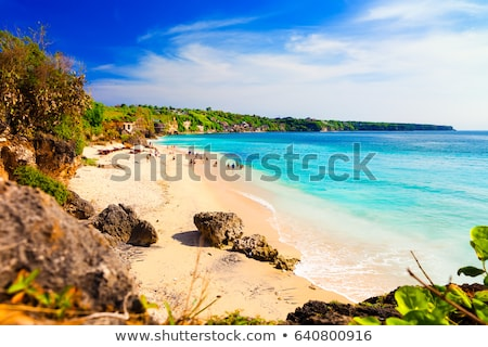 Cênico praia ondas bali reflexão céu Foto stock © meinzahn