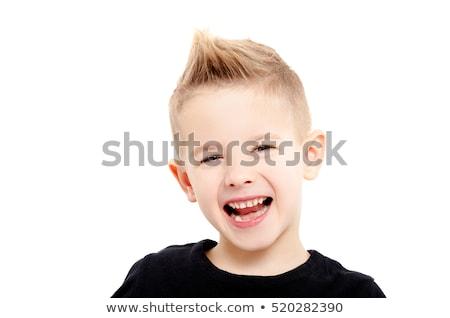 closeup portrait of cheerful little boy stock photo © zurijeta