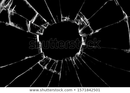 Destructed glass on black background Stock photo © Arsgera