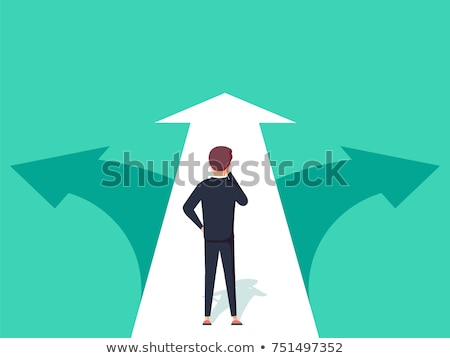 Confused, Standing at the crossroad, vector stock photo © jabkitticha