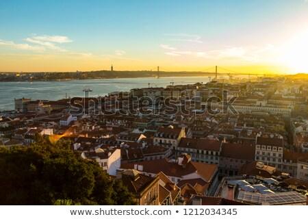 Lissabon kasteel nacht geschiedenis duisternis Stockfoto © meinzahn