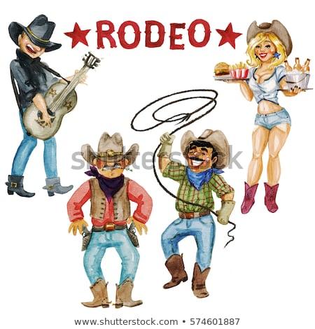 cavallo · ragazza · cappello · da · cowboy · giovani · esterna · sexy - foto d'archivio © artfotodima