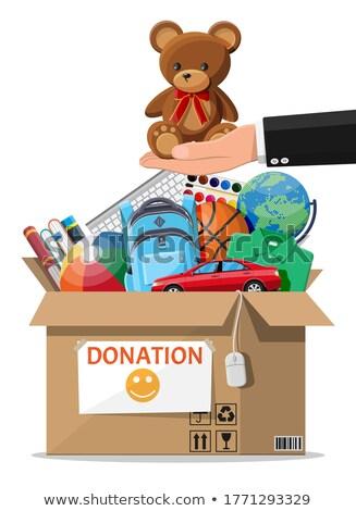Globe and Donation Box Stock photo © devon