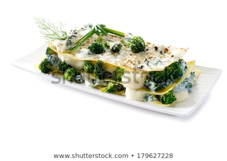 Lasanha espinafre brócolis macarrão comida italiana comida Foto stock © sirylok