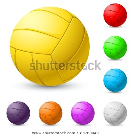 Volleybal Geel kleur illustratie sport achtergrond Stockfoto © bluering