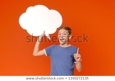 Little boy with speech bubble Stock photo © bluering