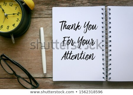 thank you for your trust written on a blackboard stock photo © zerbor