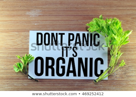 Don't panic on wooden table Stock photo © fuzzbones0