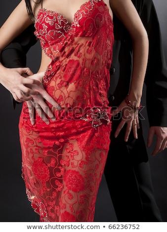 dramático · jóvenes · elegante · Pareja · posando · junto - foto stock © feedough