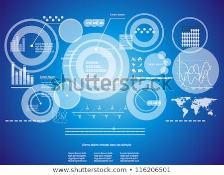 Futurisztikus érintőképernyő interfész izolált fehér üzlet Stock fotó © goir