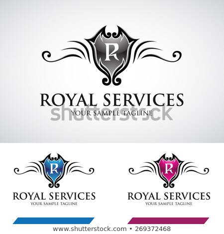 Stock photo: Glossy Swirly Royal Logo Icon
