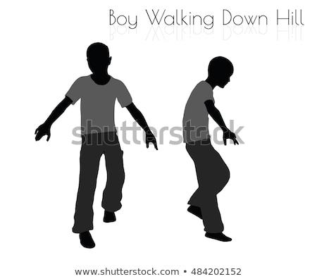 Chłopca codzienny spaceru w dół Hill stanowią Zdjęcia stock © Istanbul2009