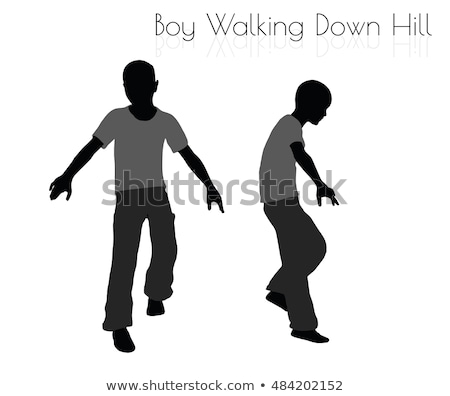 menino · cotidiano · caminhada · para · baixo · colina · pose - foto stock © Istanbul2009