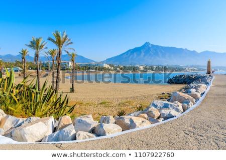 ビーチ · アンダルシア · 地域 · マラガ · 自然 · 青 - ストックフォト © rognar