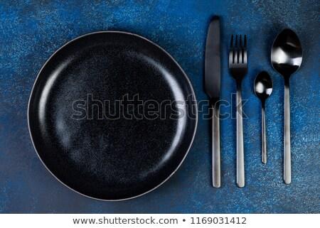 ножом · набор · фон · металл · окна - Сток-фото © artjazz