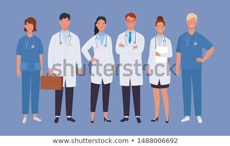 feminino · médico · ilustração · estetoscópio · isolado · menina - foto stock © bokica